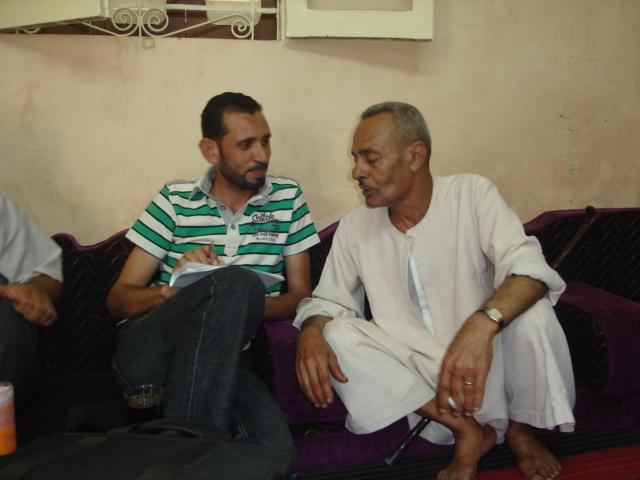 محرر المصريون مع الشقيق الأكبر للقيادي الشيعي حسن شحاتة